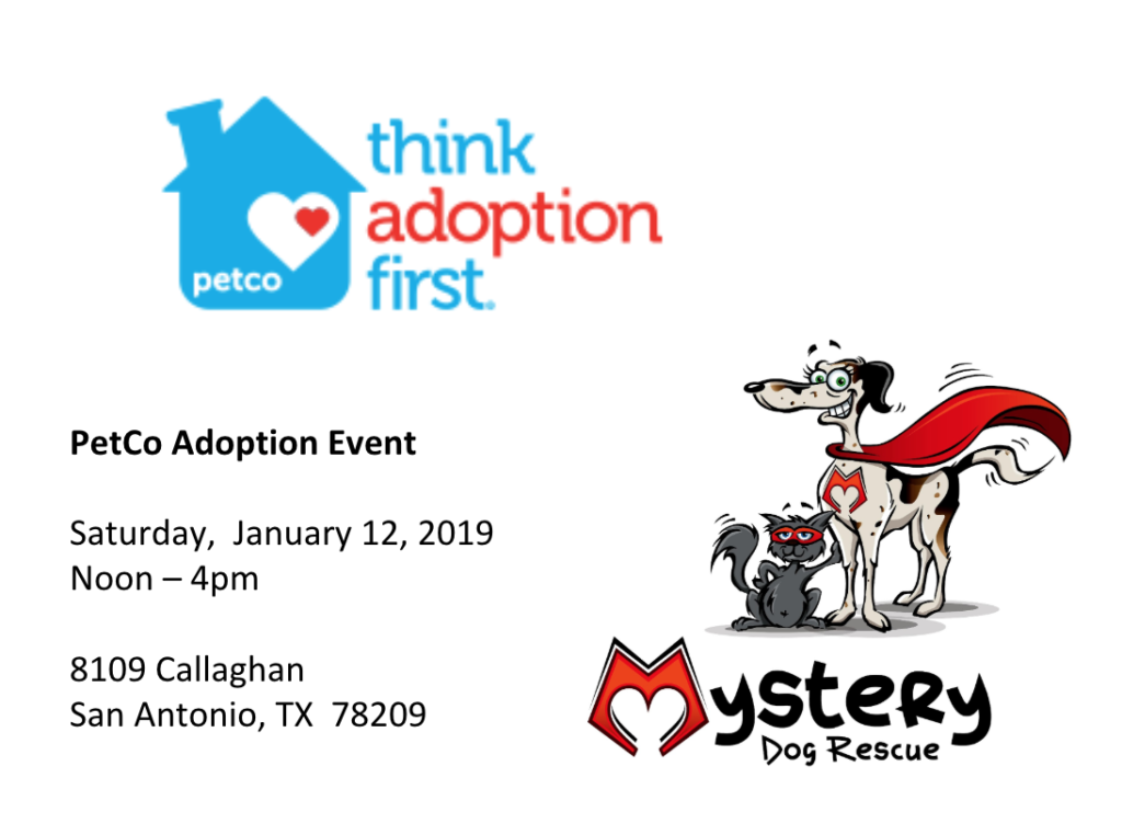 Pet Co Adoption event